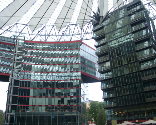 Architektur am Potsdamer Platz, Berlin